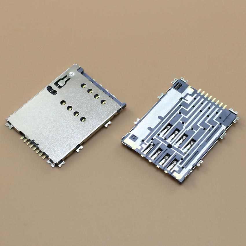 Generic 100X sim Card Reader Holder Connector for Samsung Galaxy S5 G900 G900A G900F G900X I9600 Slot Memory Card Reader Tray Module