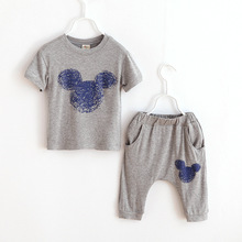 2016 new 2 7 years children s clothing Track suit brand boys girls 1set 100 cotton
