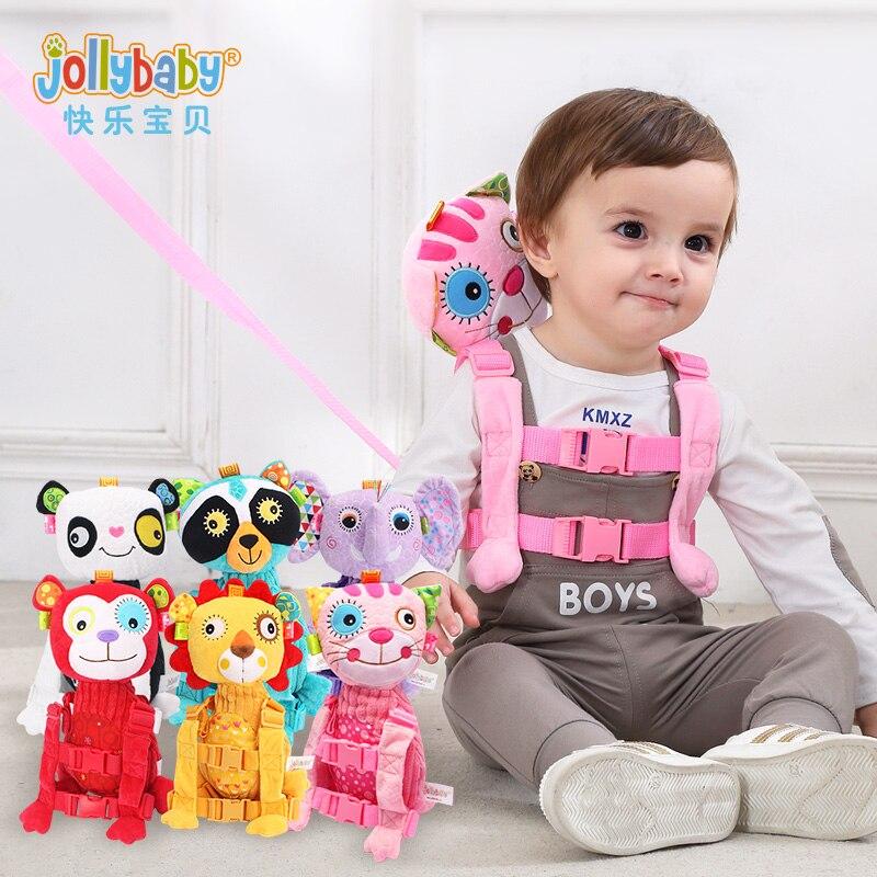 JOLLYBABY детские мягкие и плюшевые дети анти-потерянный Плюшевый Рюкзак 1-3 лет Детские ...