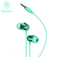 Baseus H13 Wired Earphones with Microphone Bass Headset In-Ear Earphones Earbud for iPhone Samsung Huawei Phone earphone venture electronics earphones ve monk plus earbud super bass in ear earphone sport earphone for iphone 6s auriculare headset