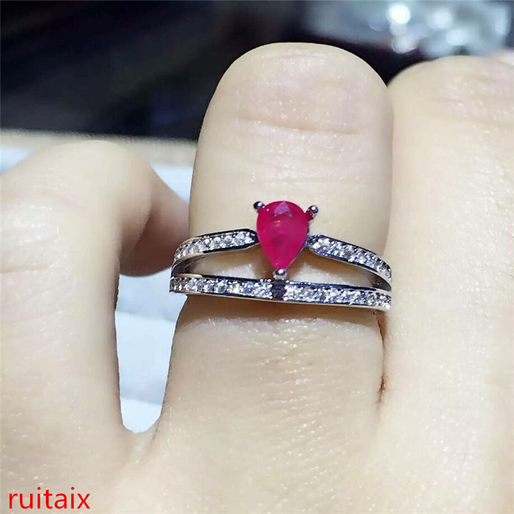 KJJEAXCMY fine jewelry 925 sterling silver inlaid with natural ruby ladys crown ring jewelry simple and small two-layer jewelryKJJEAXCMY fine jewelry 925 sterling silver inlaid with natural ruby ladys crown ring jewelry simple and small two-layer jewelry