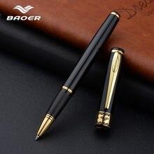 Baoer металлическая шариковая ручка 0,5 мм красные, черные золотые роллер, шариковая ручка подарка для школы и офиса письменные принадлежности