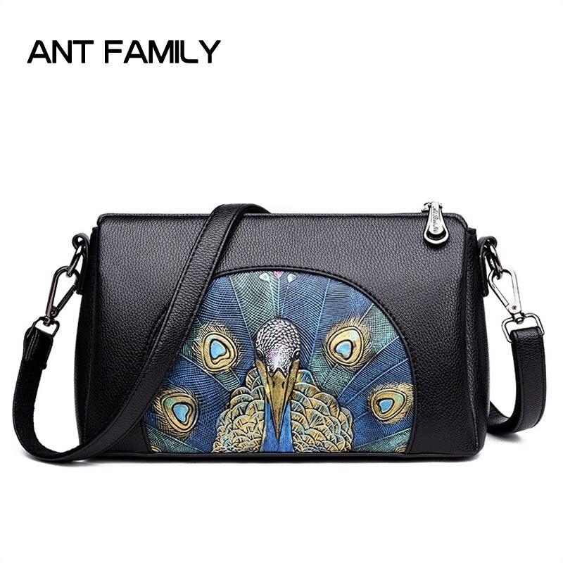 Hot Women Crossbody Bags 3D Embossed Fashion Shoulder Messenger Bag 2018 High Quality PU Leather Party Bag Female Handbag Black все цены