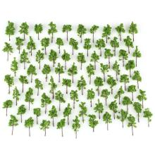 Hot 100 pcs Green Model Trees untuk N Z skala layout Garden Pack Street 38mm Baru