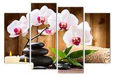 Modern flower paintings 4piece large canvas print wall art modular painting on decoration oil paint decorative pictures picture