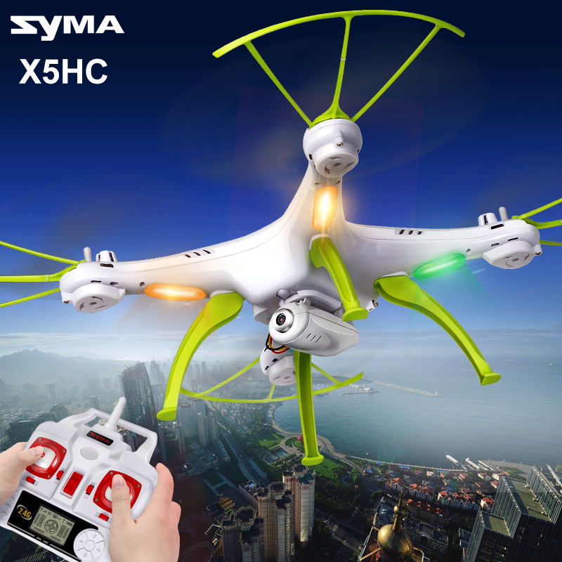SYMA Drone X5HC RC Quadcopter HD Camera Without Wifi X5HW With Wifi Camera FPV Real Time Video Transmission 2016 syma x5hw 2 4g 4ch fpv drone with camera hd wifi real time transmission aerial quadcopter 3d roll vs syma x8c fast shipping
