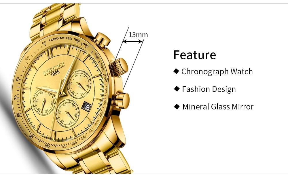 Relogio Masculino NIBOSI Quartz Watches Men Steel Band Men Watches 2018 Luxury Brand Waterproof Wrist Watches For Men Brand Saat (5)