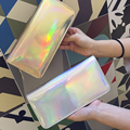 Fashion Women Leather Wallet Hologram Color Clutch Wallets And Purses Leather Long Brand Money Purse Credit Card Wallet