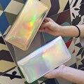Mujeres de la moda Billetera de Cuero de Color del Holograma Embrague Carteras Y Monederos De Cuero Largo de la Marca de Dinero Monedero de la Cartera de Tarjeta de Crédito