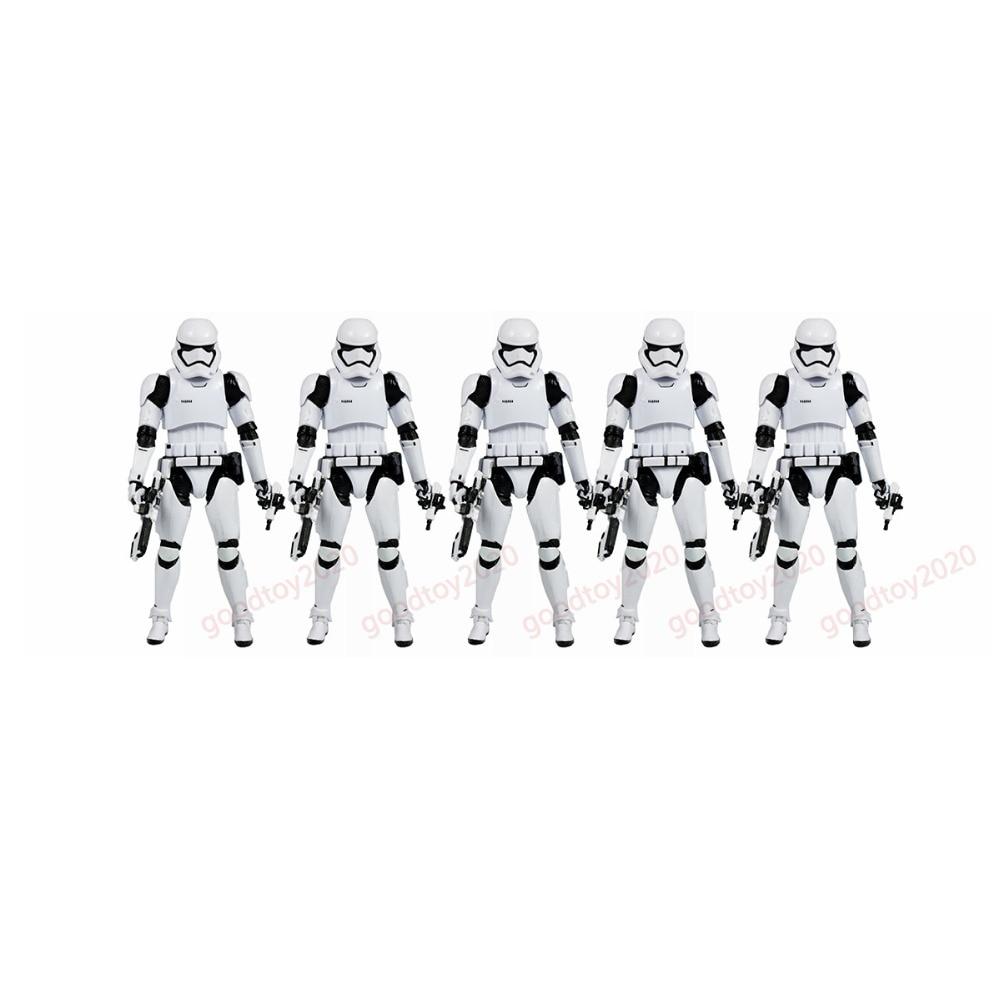 5pcs Lot Original SDCC Movie The Black Series First Order Stormtrooper 6 Figures Set Free Shipping [zob] original 5sy62 mcb c16 2p16a black series genuine original air switch 5pcs lot