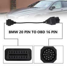 1Pc OBD II Adapter for BMW 20 pin to OBD2 16 PIN Female Connector e36 e39 X5 Z3 for BMW 20pin Free Shipping(China)
