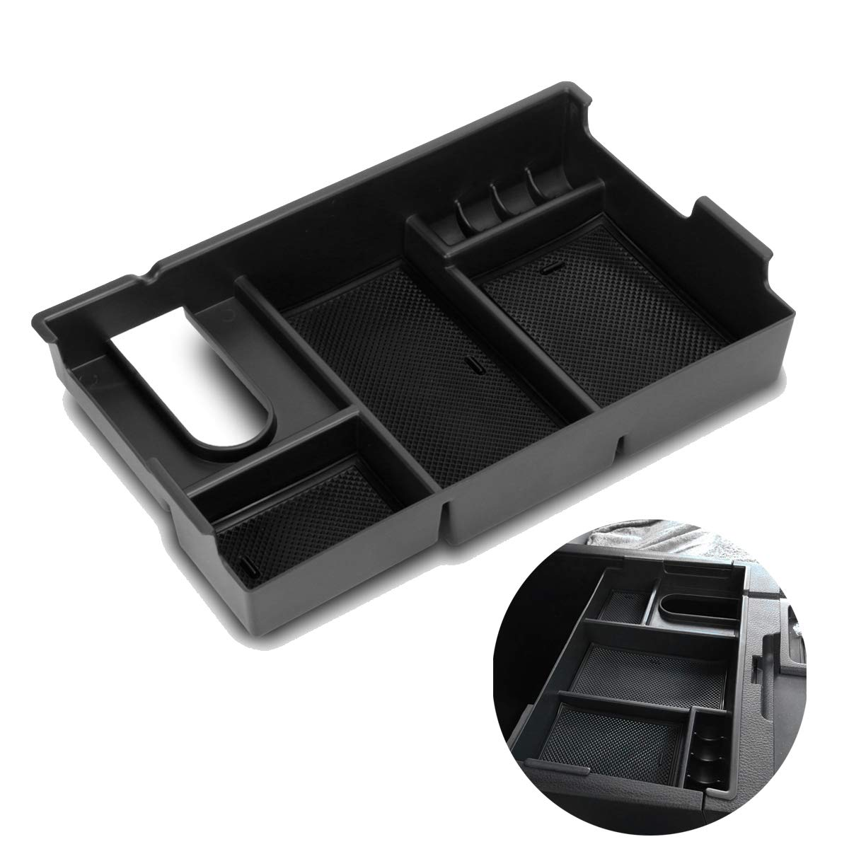 Center Console Armrest Box Glove Box Secondary Storage Console Organizer Insert Tray For Toyota Tundra 2014-2018(China)