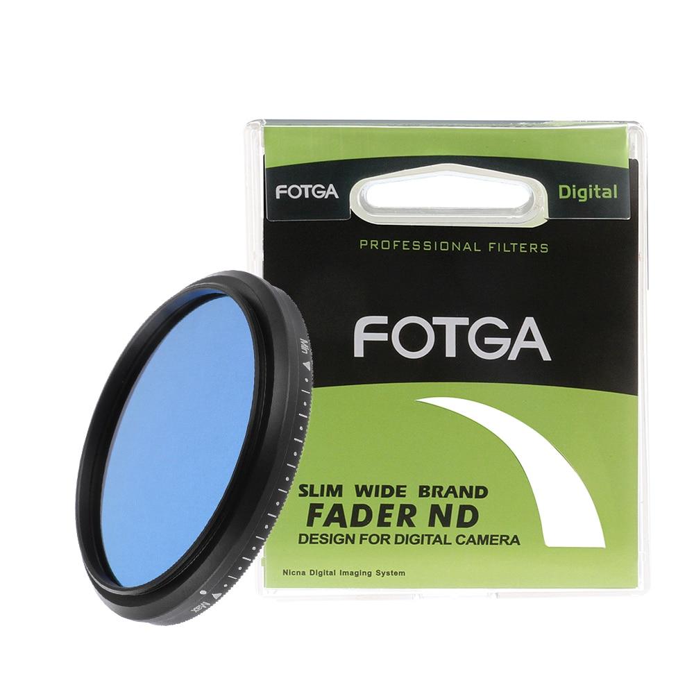 FOTGA Slim fader ND caméra filtre 58mm réglable variable densité neutre ND2 à ND400