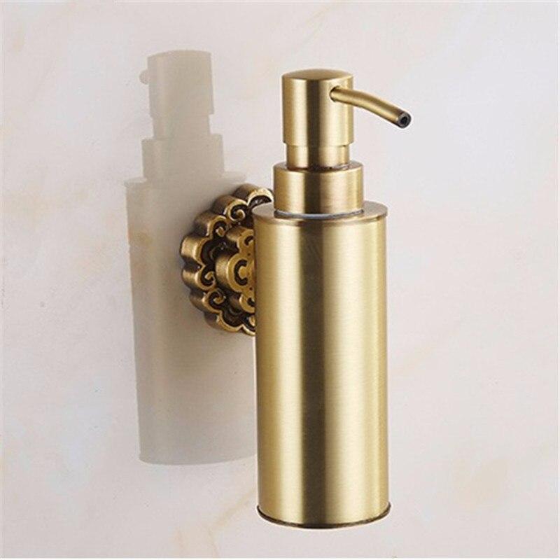 Distributeurs de savon liquide laiton Antique mural shampooing distributeur de savon liquide porte-savon accessoires de salle de bain