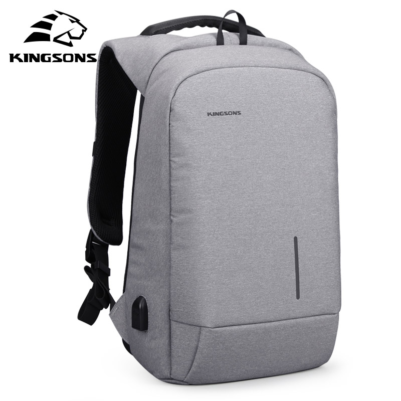 ABDB-Kingsons Anti-Theft 15.6 inch USB Charging Backapcks School Backpack Bag Laptop Computer Bags Men's Women's Travel Bags anti theft 18 4 inch waterproof laptop backpack business travel student school bags with usb charging