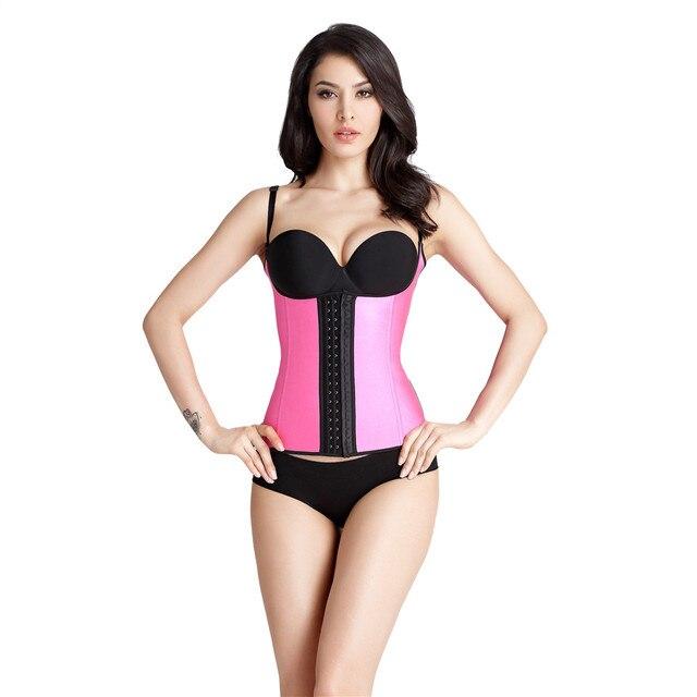 9b1e1a89ba6 Waist trainer latex corset waist slimming corset steel bone sexy bustier  stomach shaper korset for women fajas reductor