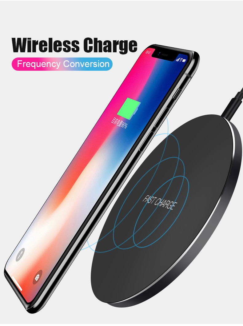 Wireless Charger for Samsung,iPhone Wireless Charger,Wireless Charger for iPhone 8 plus,iPhone X,iPhone 8 and Fast Wireless Charger for Samsung Galaxy S9,S8,S7,S5,S6-No Adapter