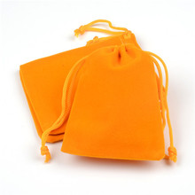 Hot Sale 100 Pcs 7x9cm/9x12cm Jewelry Casket Bags Velvet Drawstring Pouch Bag/jewelry Bags