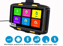 5 inch Android 4.4.2 Motorcycle GPS Waterproof MT-5001 Prolech with WiFi, Google Player APP download, Bluetooth 4.0