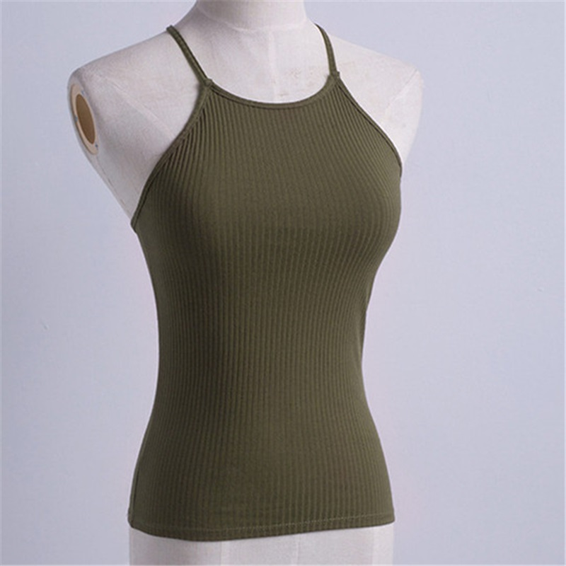 Camisoles Tanks Sexy Hollow Out Back Knitting Vest Top Ladies Casual Tops Plain O Neck Sleeveless Knitted Fitness Crop Top Tank