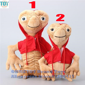 OHMETOY ET Plush Toys Extra Terrestrial Alien with Red Hoodie 22-28cm E.T Stuffed Baby Dolls Kids Birthday Gift(China)