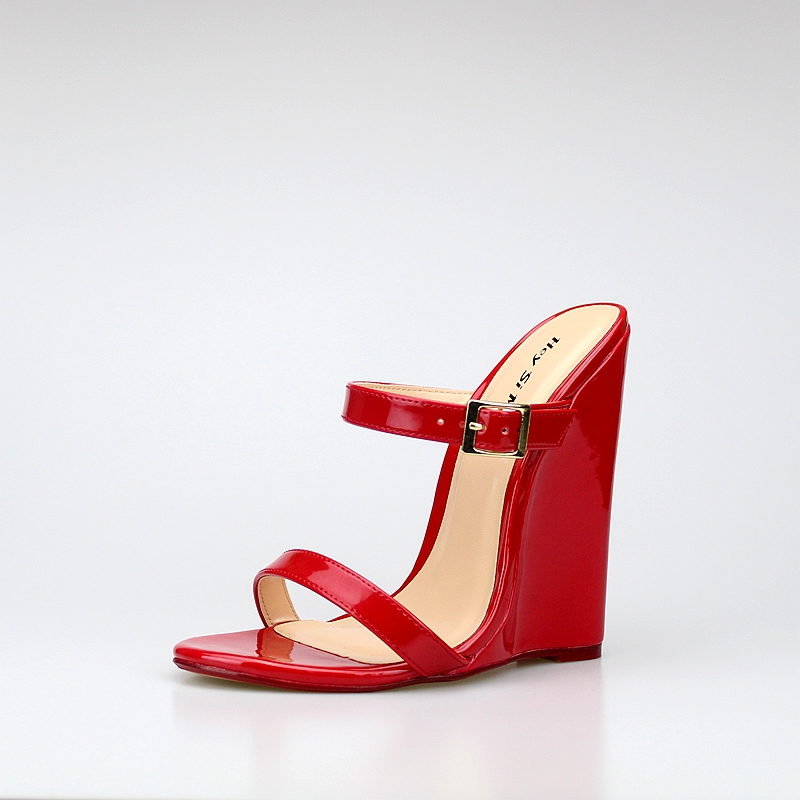 Big size 40 46 fashion style women wedges shoes summer sexy 14CM super high heeled sandals