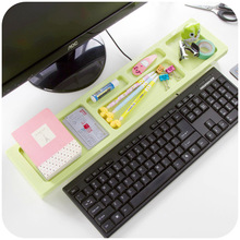 Dazzle colour sorting creative computer desktop keyboard province shelf space Multi-functional  Home Office Storage