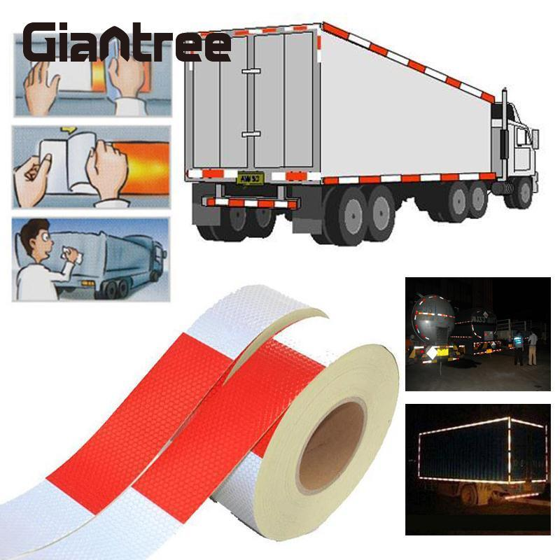 Giantree 10pcs  Reflective Tape Sticker Car Truck Styling 5cm*3m Reflective Film Safety Warning Tape Sticker Reflective Material