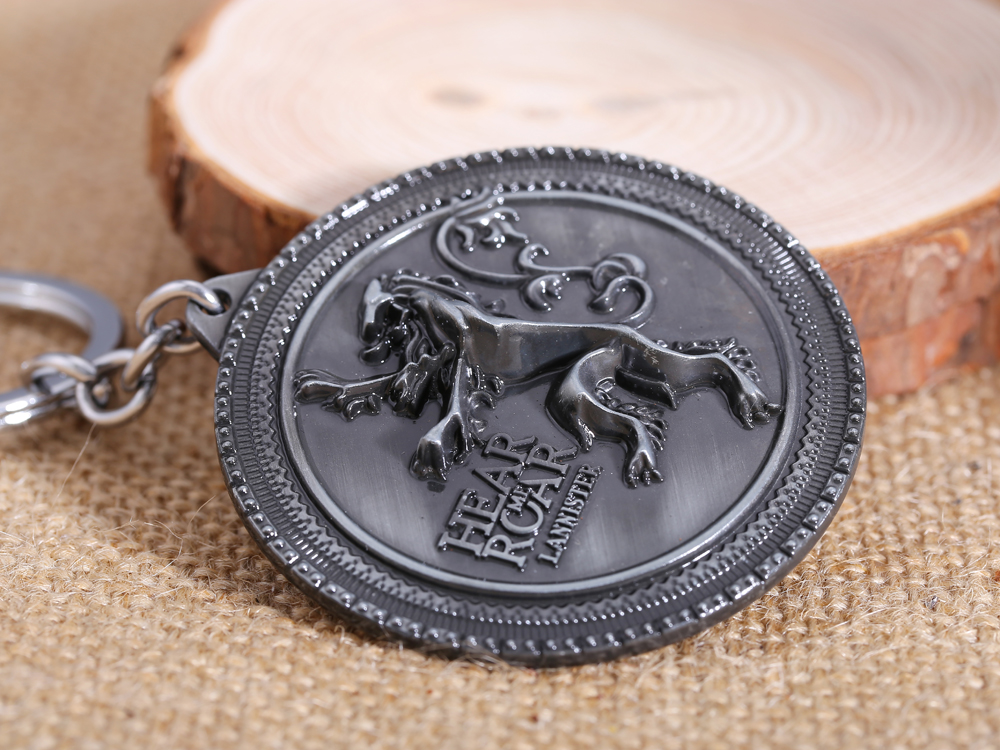 MS JEWELS Game Of Thrones House Lannister Keychain Metal Key Rings For Gift Chaveiro Key Chain 2 Colors