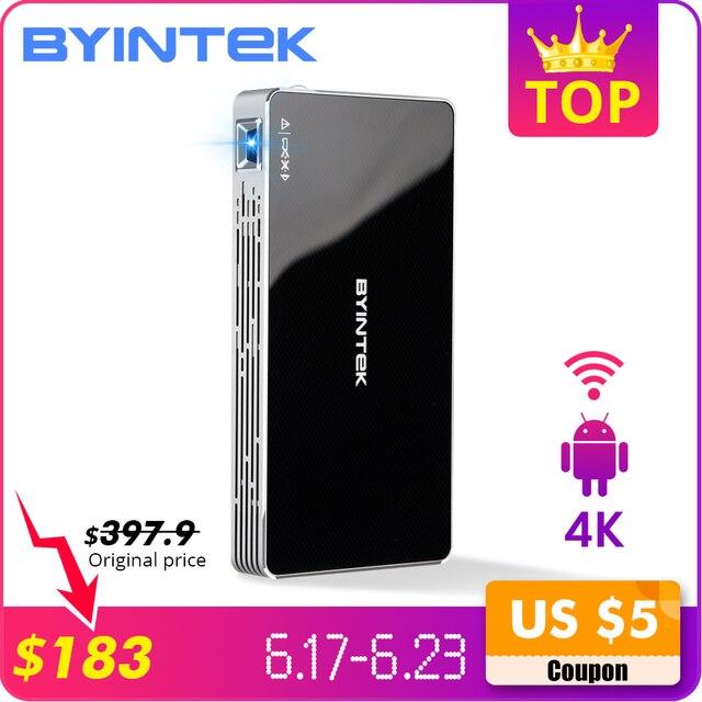 BYINTEK UFO P10 przenośny inteligentne kino domowe kieszeń z systemem Android 7.1.2 system operacyjny Wifi Mini projektor LED HD do pełnego HD1080P MAX 4 K HDMI