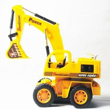 RC truck excavator up and down abs material top quality best gift for kids boy toy with remote control