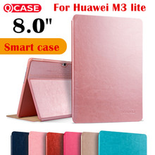 Kaku Imán M3 cubierta Del Tirón Inteligente para Huawei MediaPad Lite caja de la Tableta de 8 8.0 CPN-W09 CPN-AL00 Auto Estela Del Sueño de cuero caso