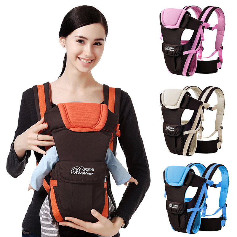 0-24 Months Breathable Front Carry Facing Baby Carrier Infants Sling Backpack Pouch Wrap Baby Outdoor Safe Sling Carrier 16Kg