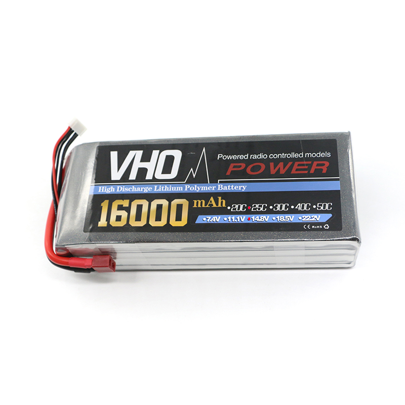 VHO RC airplane Li-Po Battery 4s 14.8v 16000mAh 25c the best cell the lowest internal resistance and higher endurance аккумулятор traxxas 2200мач 7 4в 2 cell 25c li po battery id plug