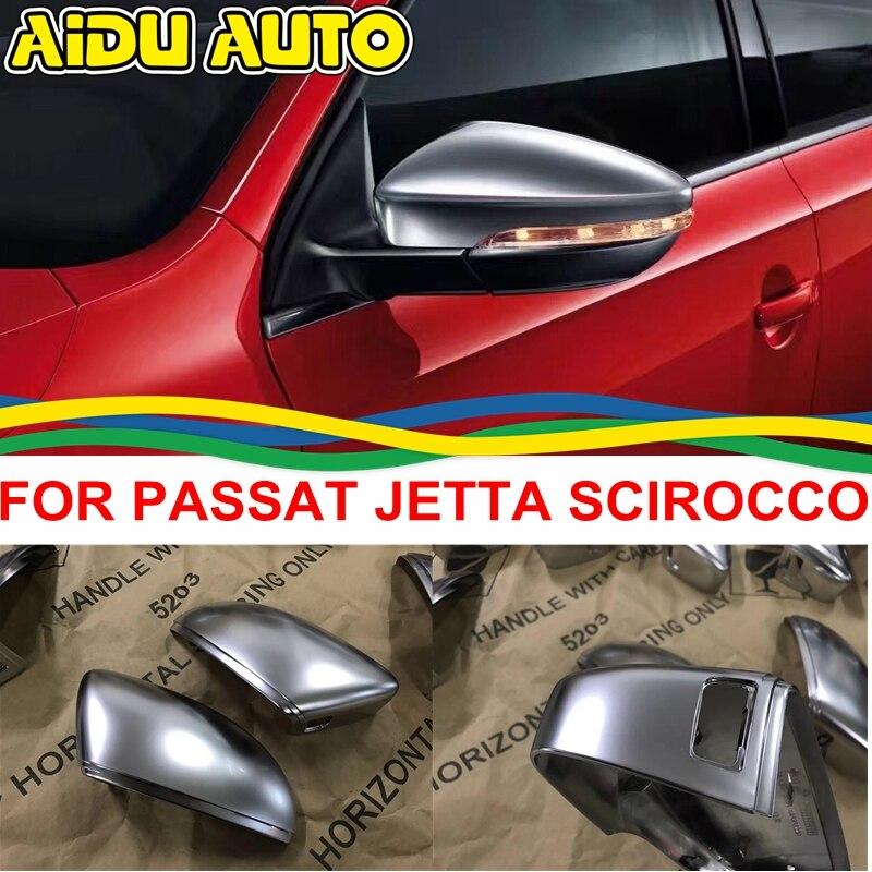 Housses de rétroviseurs en argent chromé mat pour VW PASSAT B7 CC Jetta MK6 Scirocco EOS Beetle 3C8 857 538 A 3C8 857 537 A