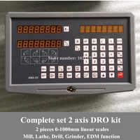 送料無料旋盤/フライス/ドリル/EDM/CNC 機 2 軸デジタル読み出し dro とリニアスケール /リニアセンサ