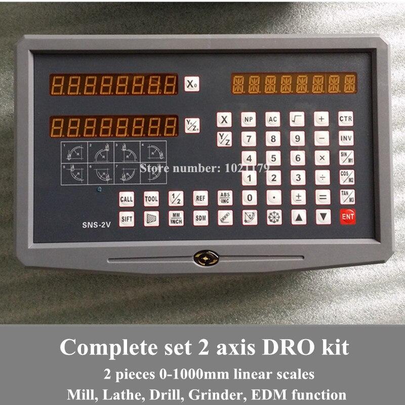 Frete grátis torno/fresagem/broca/edm/cnc máquina de 2 eixos digital readout dro e escala linear/sensor linear