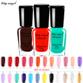 Lily angel 48 colors Colorful 6ml Nail Polish Gel Paint Peel off Water Based Nails Art Glue Quick Drying Beauty Tools  NO.1-24