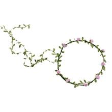 NEW Lady Boho Floral Flower Festival Wedding Garland Forehead Hair Head Band pink