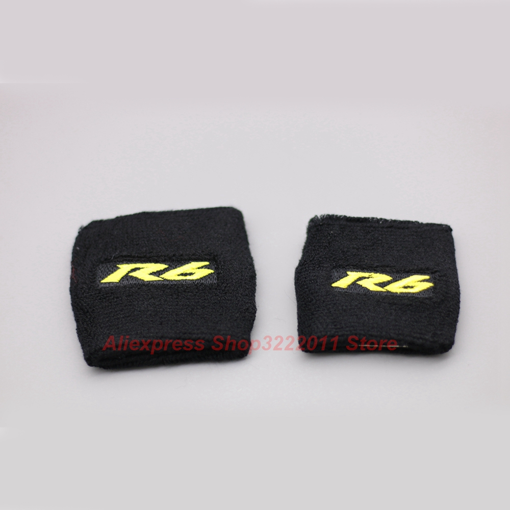 Universal Gold R6 Logo Motorcycle Brake Fluid Reservoir Clutch Tank Oil Cup Cover Socks For Yamaha YZF R6 YZF-R6 R6S All Years motorcycle brake fluid reservoir clutch tank oil fluid cup universal for yamaha r1 r3 r6 mt 07 mt 09 mt07 mt 07 tmax 530 ktm