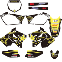 Motorcycle Graphic Decals And Stickers Kit For Suzuki RM125 RM250 RM 125 250 2001 2002 2003 2004 2005 2006 2007 2012