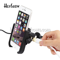 Chargable Aluminum Alloy Motorcycle Handlebar Holder For 4 6 inch Phone Support GPS Bike/Moto Rearview Mirror Phone Stand Holder
