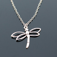 Silver Plated Dragonfly Necklace