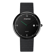 ANANKE Luxury Watch Men Orologio Uomo Genuine Leather Waterproof Man Watches Erkek Saat Casual Quartz Wristwatches Montre Homme
