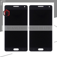Yüksek kalite 10 adet Ücretsiz DHL Samsung A5 lcd ekran HH A5 A500 A5000 lcd dokunmatik sayısallaştırıcı meclisi ile siyah beyaz altın