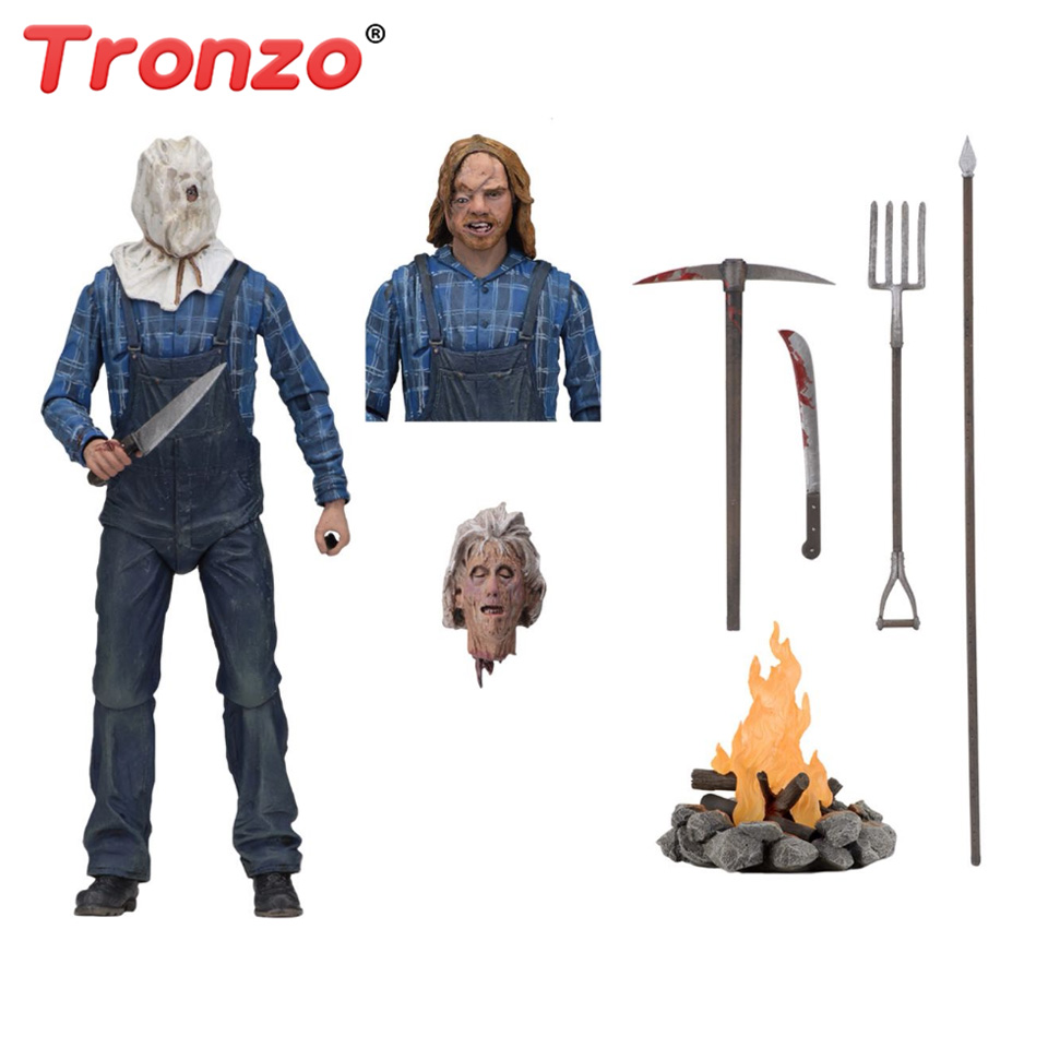 Tronzo Action Figure NECA Friday The 13th Jason Figure 18cm Jason Joint Movable Model Collection Decor For Halloween Gift