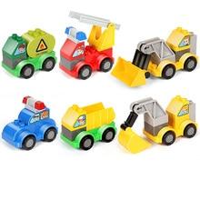 SLPF Children Toys Puzzle Larger Particles Plastic Changed The Car DIY Assemble Build Block Combined Robot Toy Legoings B01