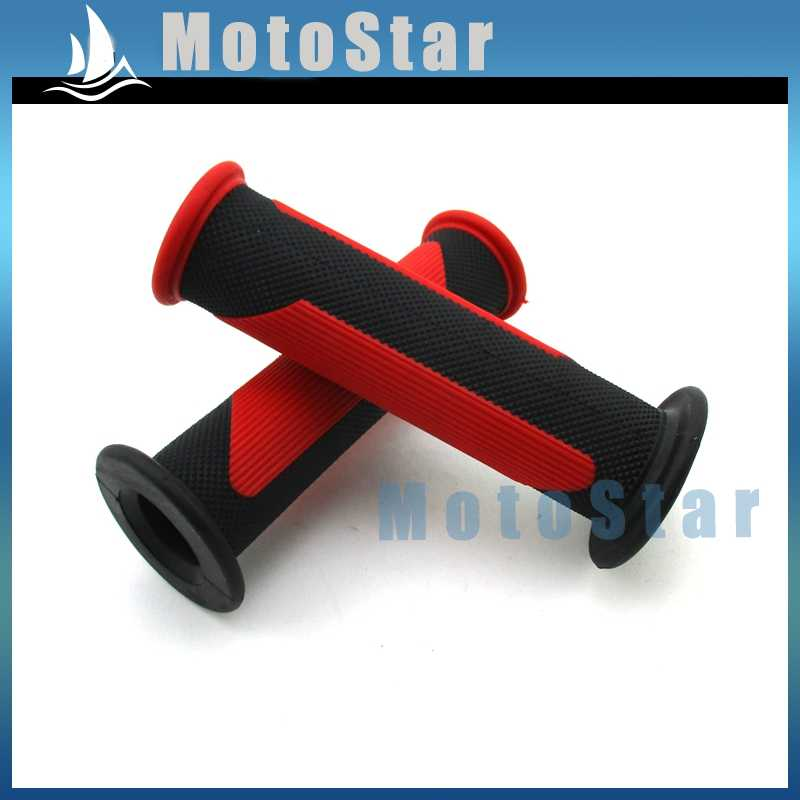 PWC Gel Racing Hand Grips Red Rubber Star for Honda Rancher ATV