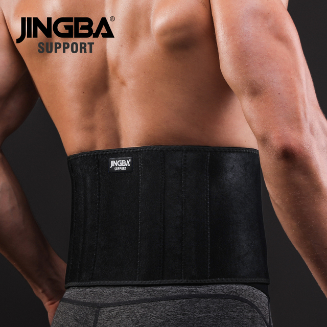 JINGBA SUPPORT Waist trimmer Support Slim fit Abdominal Waist sweat belt Sports Safety Back Support Sports protective gear 2