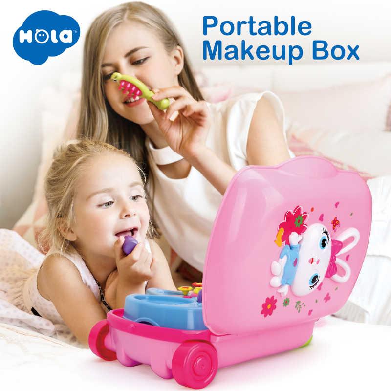 HOLA 3109 ролевые игры Макияж Платье игрушки багаж чемоданы игрушки набор детей кукольный домик мебель игровой дом игрушки для девочек